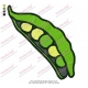 Peas Vegetable Embroidery Design 02