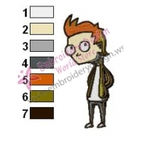 Philip J Fry Futurama Embroidery Design 02