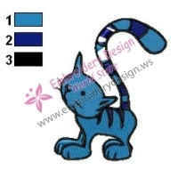 Pilchard Cat Bob Builder Embroidery Design 02
