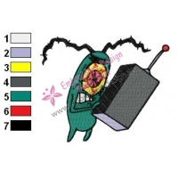 Plankton SquarePants Embroidery Design 02