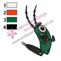 Plankton SquarePants Embroidery Design 03