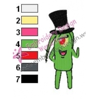 Plankton SquarePants Embroidery Design 04