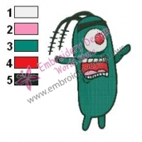 Plankton SquarePants Embroidery Design 05