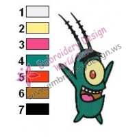 Plankton SquarePants Embroidery Design 06