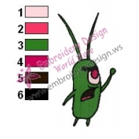 Plankton SquarePants Embroidery Design 08