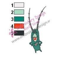 Plankton SquarePants Embroidery Design 09