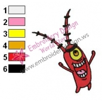 Plankton SquarePants Embroidery Design 10