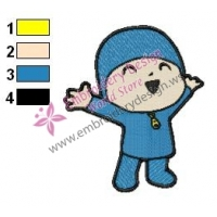 Pocoyo Embroidery Design 02