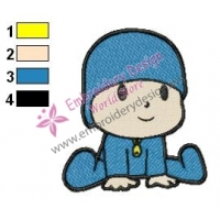 Pocoyo Embroidery Design