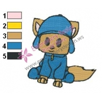 Pocoyo as Wolf Embroidery Design