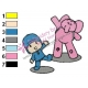 Pocoyo with Elly Embroidery Design 02