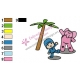 Pocoyo with Elly Embroidery Design