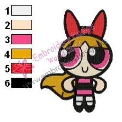 Powerpuff Embroidery Cartoon 11