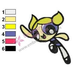 Powerpuff Embroidery Cartoon 16