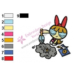 Powerpuff Embroidery Cartoon 7