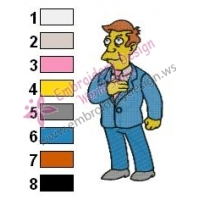 Principal Skinner Simpson Embroidery Design