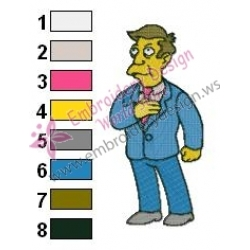 Principal Skinner Simpsons Embroidery