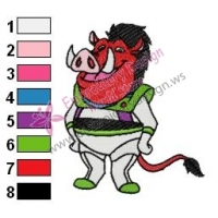 Pumbaa Embroidery Design 03