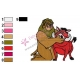 Pumbaa with Lion King Embroidery Design