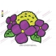 Purple Cute Flower Embroidery Design