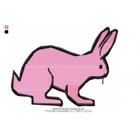 Rabbit Embroidery Design 4