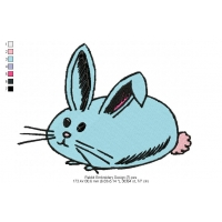 Rabbit Embroidery Design 7