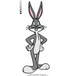 Bugs Bunny Embroidery Cartoon_01