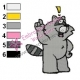 Racoon Ideas Embroidery Design