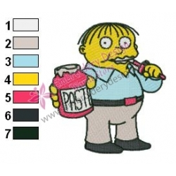 Ralph Wiggum Simpsons Embroidery