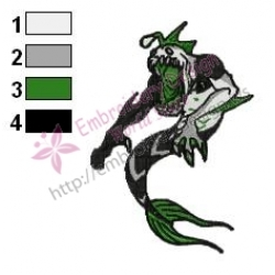 Ripjaws Ben10 Embroidery Design