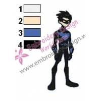 Robin Nightwing Teen Titans Embroidery Design