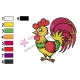 Rooster Colored Embroidery Design