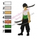 Roronoa Zoro One Piece Embroidery Design 02