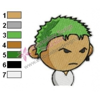 Roronoa Zoro One Piece Embroidery Design 03
