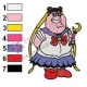 Sailor Peter Griffin Family Guy Embroidery Design