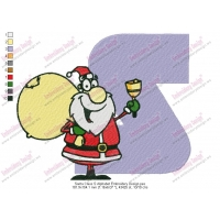 Santa Claus S Alphabet Embroidery Design