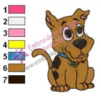 Scooby Doo Baby Embroidery Design 02