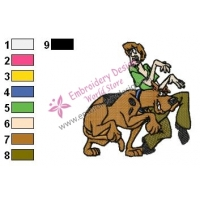 Scooby Doo Embroidery Design 08