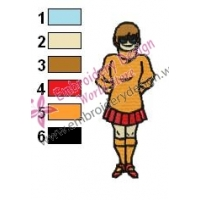 Scooby Doo Velma Embroidery Design