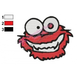 Sesame Street Crazy Elmo Embroidery Design