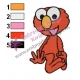 Sesame Street Cute Elmo Embroidery Design