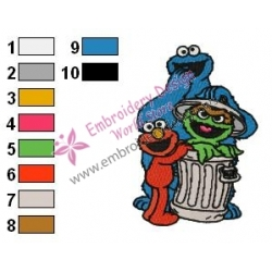 Sesame Street Embroidery Design