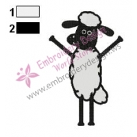 Shaun The Sheep Embroidery Design 06