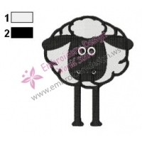 Shaun The Sheep Embroidery Design 08