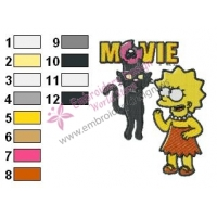 Simpsons Movie Embroidery Design
