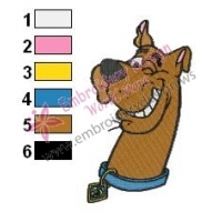 Smiley Scooby Doo Embroidery Design
