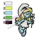 Smurfette Embroidery Design 13