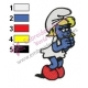 Smurfette Embroidery Design