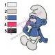 Smurfs Embroidery Design 02