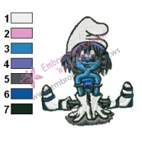 Smurfs Embroidery Design 13